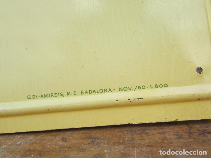 Antigüedades: Cartel de pared años 50 Metal Máquinas de coser REFREY - Foto 4 - 143251562