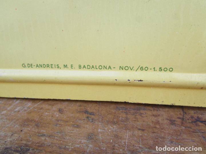 Antigüedades: Cartel de pared años 50 Metal Máquinas de coser REFREY - Foto 6 - 143251562