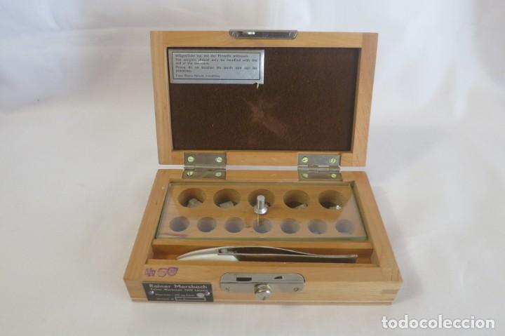 Antigüedades: caja de pesas en miligramos - Foto 2 - 143276178