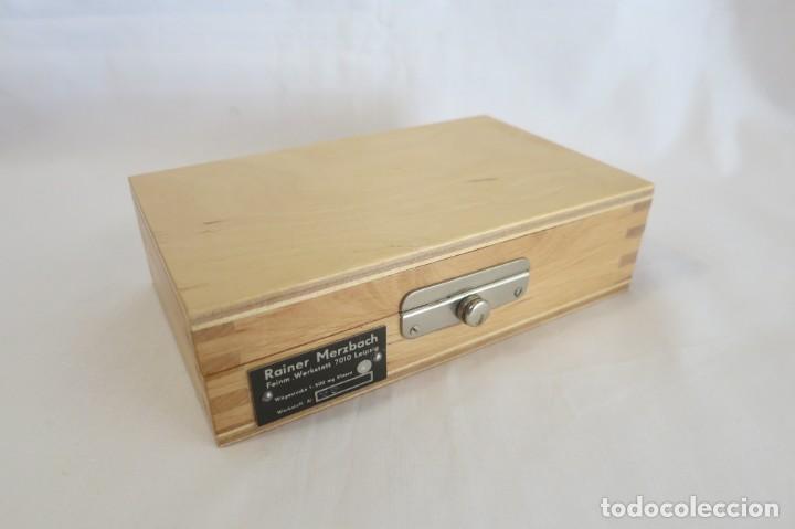 Antigüedades: caja de pesas en miligramos - Foto 4 - 143276178