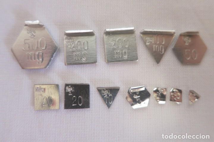 Antigüedades: caja de pesas en miligramos - Foto 5 - 143276178