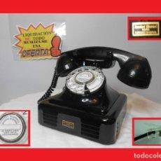 Teléfonos: TELÉFONO DE SOBREMESA ANTIGUO STANDARD ELÉCTRICA AÑOS 30/40 EN METAL, FUNCIONANDO RESTAURADO DIAL. Lote 143334090