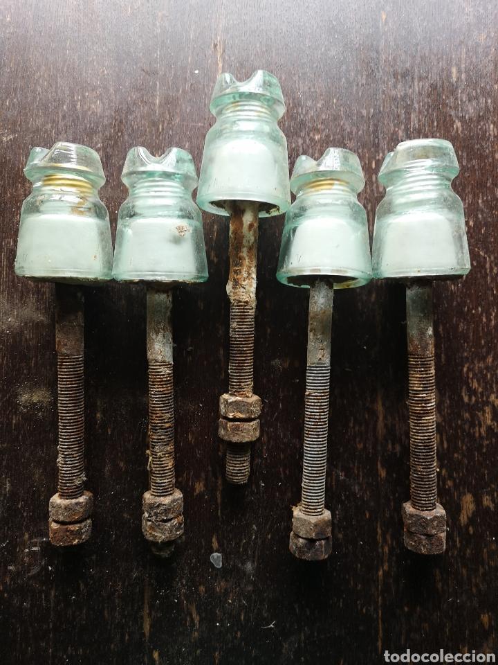 5 AISLANTES O JICARAS (Antigüedades - Técnicas - Herramientas Profesionales - Electricidad)