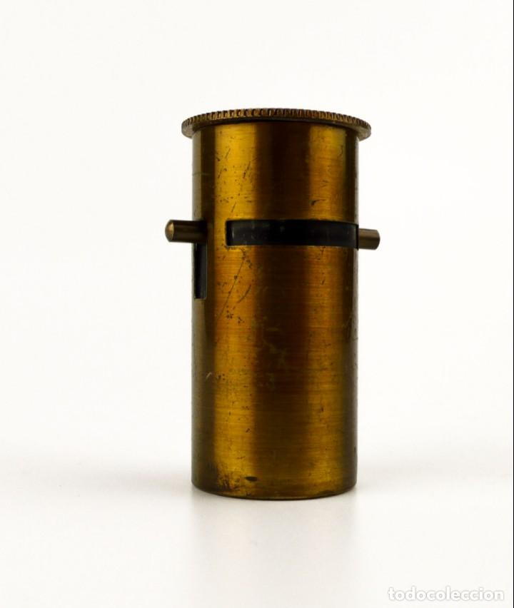 Antigüedades: Microscopio de campo o biología - latón dorado- Ca.1900 - Foto 2 - 143385294