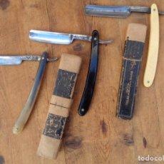 Antigüedades: 3 NAVAJAS DE BARBERO, ANTIGUA. Lote 143401166