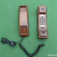 Teléfonos: TELÉFONO DE MADERA MARCA SOLAC TELECOM. Lote 143412054