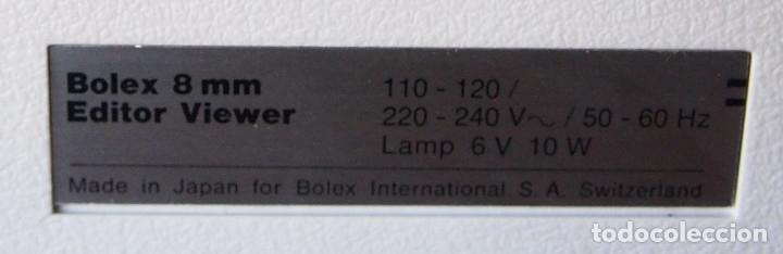 Antigüedades: BOLEX V180 DUO. PROYECTOR, EDITOR PELICULAS 8MM, UNIDAD SONIDO. AÑOS 60 - Foto 4 - 143470954