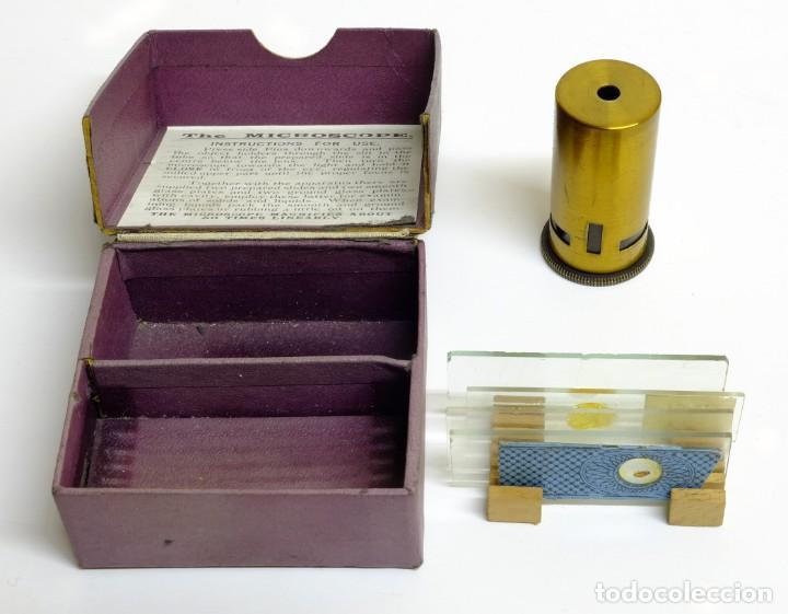 1900C MICROSCOPIO DE BOLSILLO CON CAJA ORIGINAL, ACCESORIOS E INSTRUCCIONES (Antigüedades - Técnicas - Instrumentos Ópticos - Microscopios Antiguos)