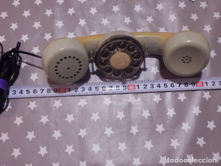 ANTIGUO REPUESTO DE TELÉFONO - AURICULAR C/ DIAL MARCAR POR PULSOS PORTATIL P/ TÉCNICO TELEFÓNICA (Antigüedades - Técnicas - Teléfonos Antiguos)