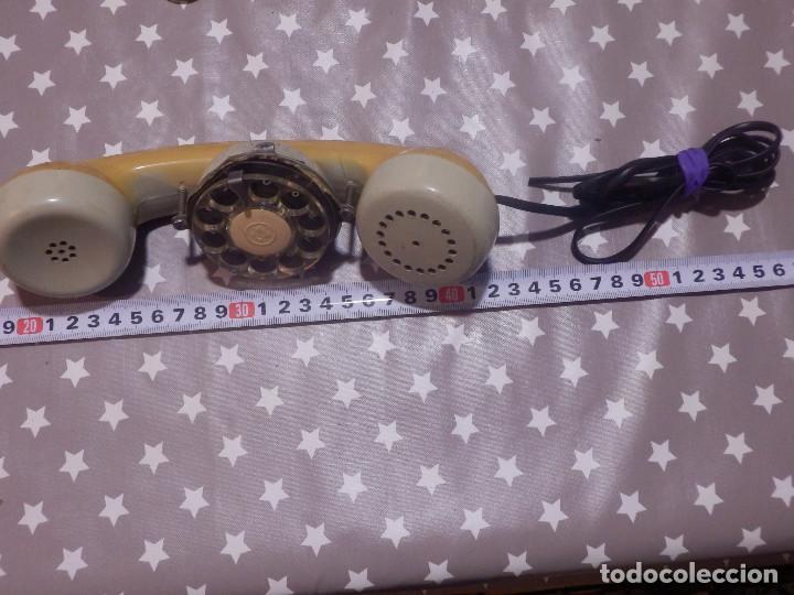 Teléfonos: Antiguo repuesto de teléfono - Auricular c/ Dial marcar por pulsos portatil p/ técnico telefónica - Foto 2 - 143704294