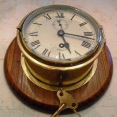 Antigüedades: RELOJ MAMPARO BARCO SMITH ASTRAL AÑOS 50 , CUERDA 8 DIAS REVISADO,PULIDO,EN ESTADO INMEJORABLE. Lote 143725998