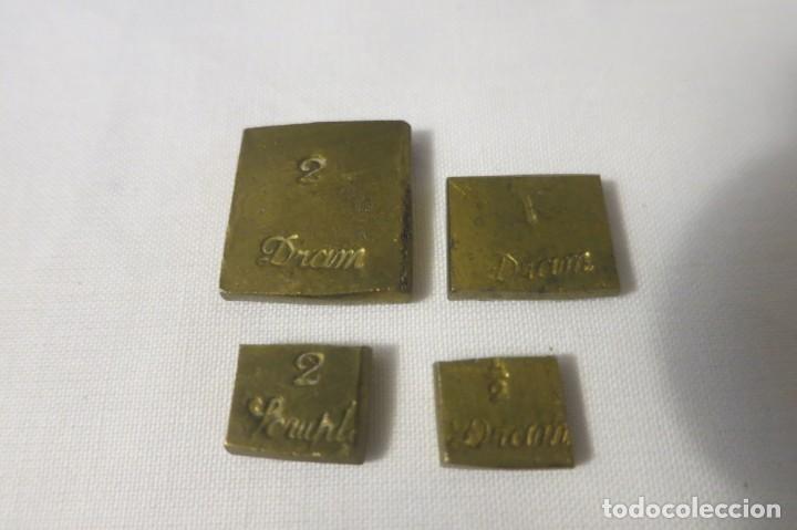 PONDERALES DE FARMACIA SIGLO XIX (Antigüedades - Técnicas - Medidas de Peso - Ponderales Antiguos)