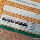 Antigüedades: RIBE FEDERNRECHNER RICHARD BERGNER REGLA CÁLCULO ALEMANA. . Lote 143887070