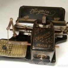 Antigüedades: MAQUINA DE ESCRIBIR AEG MIGNON NO.2, AÑO 1.910, FUNCIONA, VER VIDEO. Lote 143896818