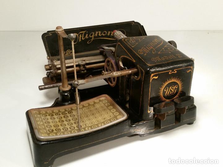 Antigüedades: maquina de escribir AEG Mignon No.2, año 1.910, funciona, ver video - Foto 3 - 143896818