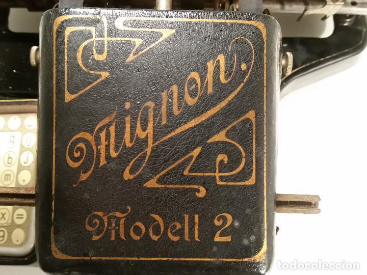 Antigüedades: maquina de escribir AEG Mignon No.2, año 1.910, funciona, ver video - Foto 4 - 143896818
