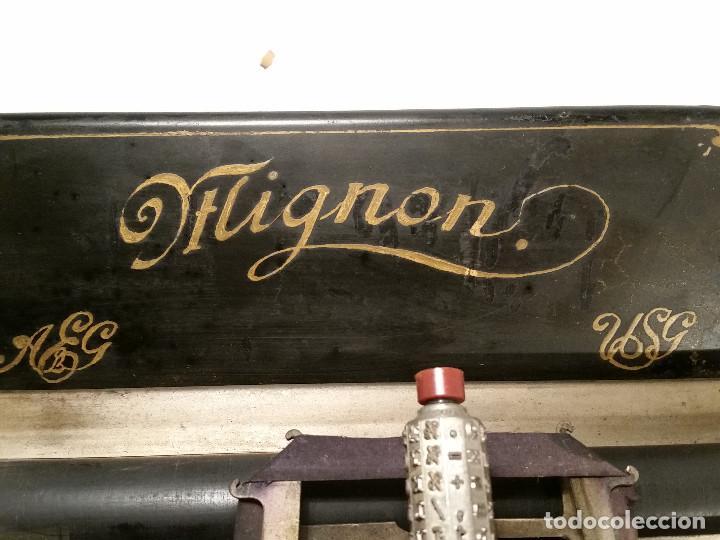 Antigüedades: maquina de escribir AEG Mignon No.2, año 1.910, funciona, ver video - Foto 5 - 143896818