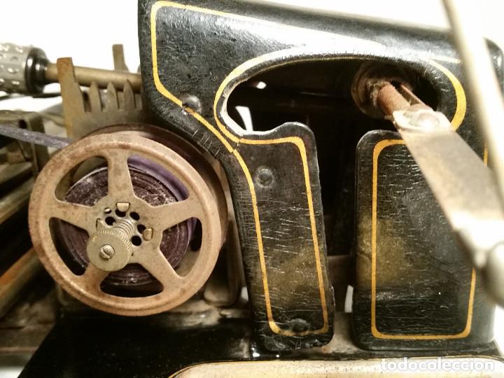 Antigüedades: maquina de escribir AEG Mignon No.2, año 1.910, funciona, ver video - Foto 7 - 143896818