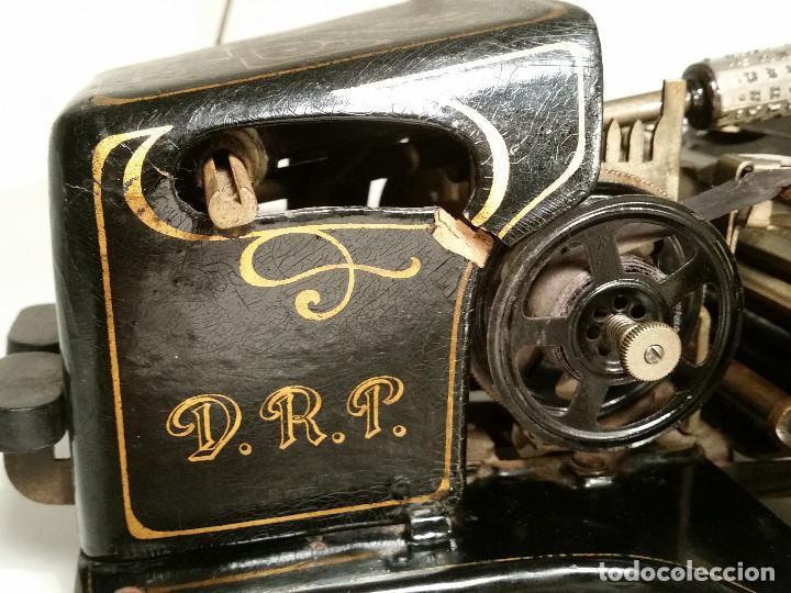 Antigüedades: maquina de escribir AEG Mignon No.2, año 1.910, funciona, ver video - Foto 8 - 143896818