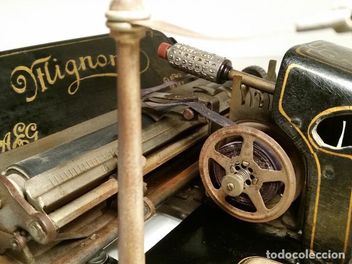 Antigüedades: maquina de escribir AEG Mignon No.2, año 1.910, funciona, ver video - Foto 11 - 143896818
