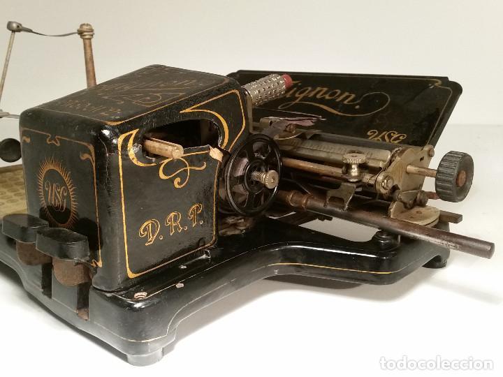 Antigüedades: maquina de escribir AEG Mignon No.2, año 1.910, funciona, ver video - Foto 12 - 143896818