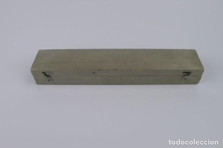 Antigüedades: COMPAS DE PROPORCIONES O PANTOMETRA NAVAL EN ESTUCHE -Principios S.XX - Foto 7 - 143906426
