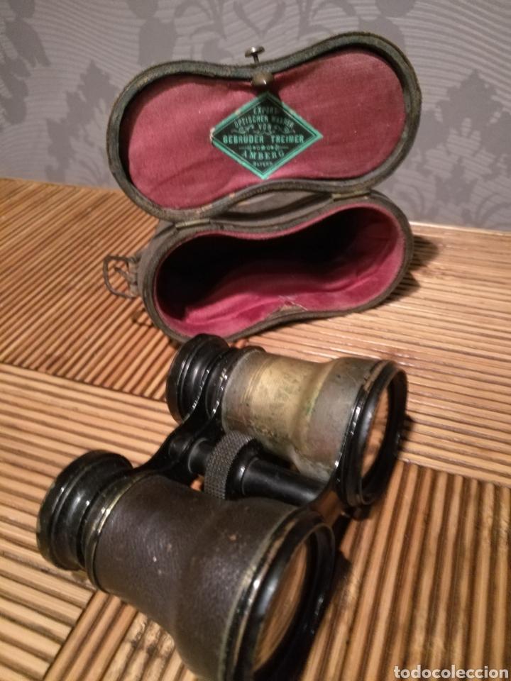 Antigüedades: Antiguos Binoculares ejercito y opera alemán Gebruder Theimer Amberg - Foto 2 - 143907590