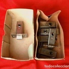 Antigüedades: LOTE 6 PIEZAS PICAPORTE EMBUTIR MARCA AMIG 2-3 MM. PULLIDO - CERRADURAS PUERTAS. Lote 143933354