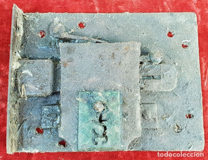Antigüedades: COLECCIÓN DE CERRADURAS, TIRADORES DE PUERTA Y ACCESORIOS. METAL. SIGLO XIX-XX. - Foto 13 - 143990346