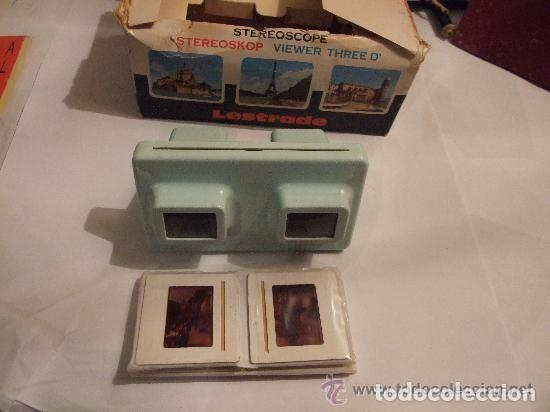 ESTEREOSCOPIO LESTRADE FRANCIA AÑOS 1950 (Antigüedades - Técnicas - Aparatos de Cine Antiguo - Visores Estereoscópicos Antiguos)