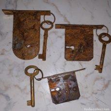 Antigüedades: ANTIGUAS CERRADURAS PARA MUEBLES. Lote 144006636