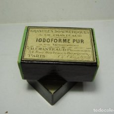Antigüedades: IODOFORME PUR. CAJA DE MEDICAMENTO. . Lote 144077562