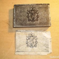 Antigüedades: ANTIGUA PLANCHA DE IMPRESION ESCUDO. Lote 144096994
