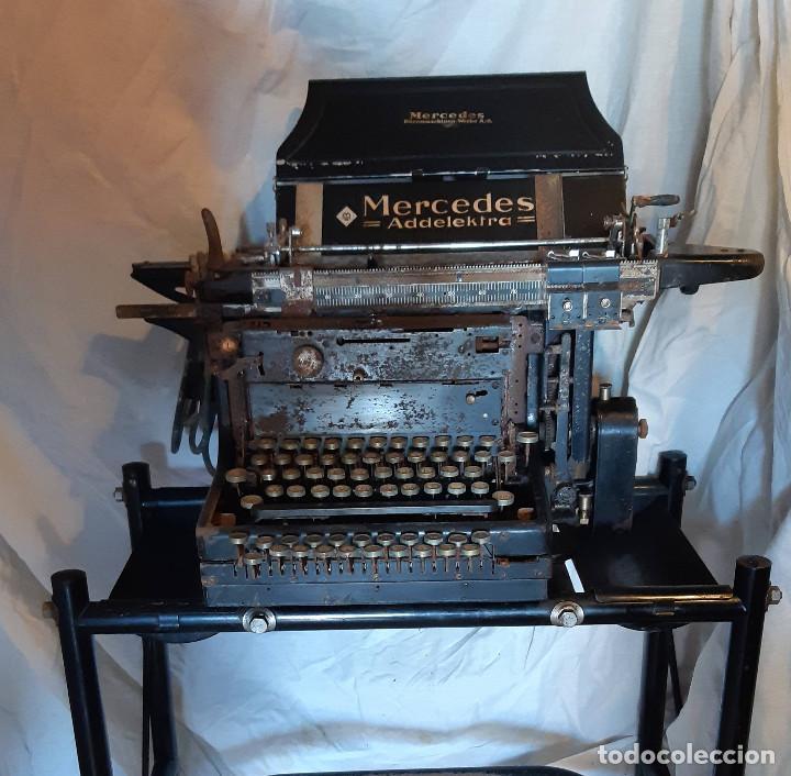 PIEZA DE MUSEO ! MERCEDES ADDELEKTRA (Antigüedades - Técnicas - Máquinas de Escribir Antiguas - Mercedes)