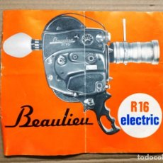 Antigüedades: CATALOGO FRANCES CAMARA BEAULIEU R-16 ELECTRIC 16MM. Lote 144146422