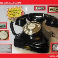 Teléfonos: TELÉFONO ESPAÑOL SOBREMESA (5523-A) AÑOS 50 STANDARD ELÉCTRICA, S.A. MADRID RESTAURADO Y FUNCIONANDO. Lote 144168890
