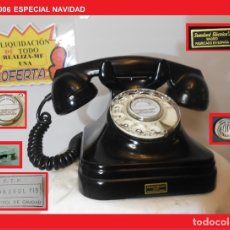 Teléfonos: TELÉFONO ESPAÑOL SOBREMESA AÑOS 50 STANDARD ELÉCTRICA, S.A. MADRID RESTAURADO Y FUNCIONANDO. Lote 145010241