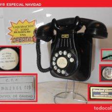 Teléfonos: TELÉFONO ESPAÑOL DE PARED (5522-A) AÑOS 50 STANDARD ELÉCTRICA, S.A. MADRID RESTAURADO Y FUNCIONANDO. Lote 144169402