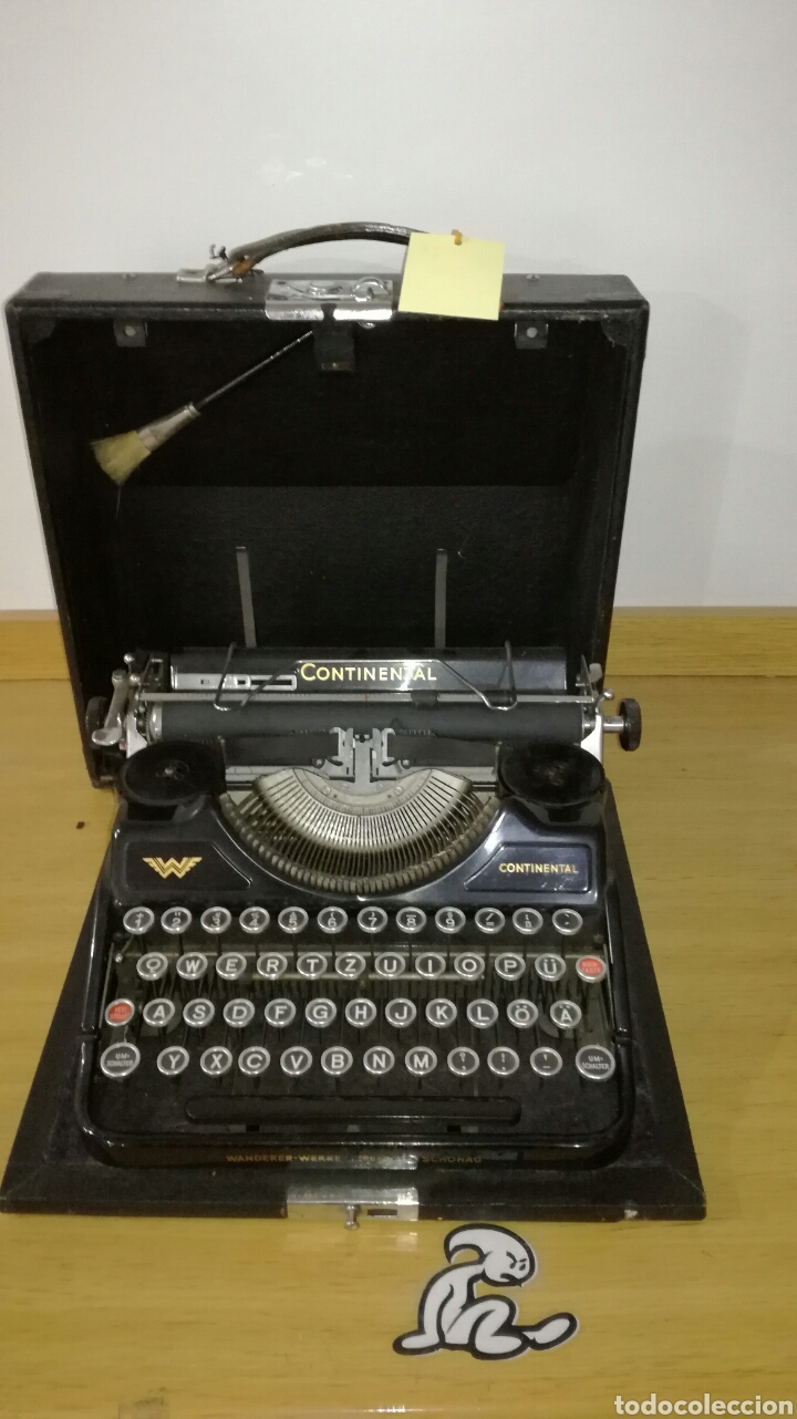 MÁQUINA DE ESCRIBIR MARCA CONTINENTAL EN BUEN ESTADO CON SEÑALES DE USO (Antigüedades - Técnicas - Máquinas de Escribir Antiguas - Continental)