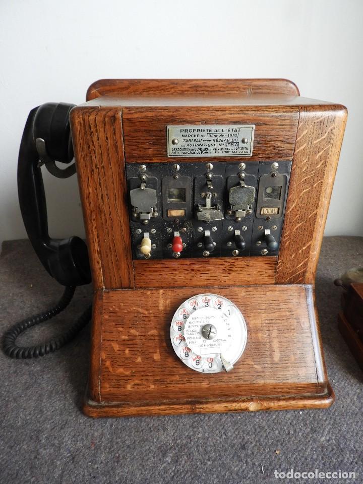 Teléfonos: PRECIOSA CENTRALITA TELÉFONO ANTIGUO COMPLETO EN ROBLE AÑOS 50 - Foto 2 - 144244886