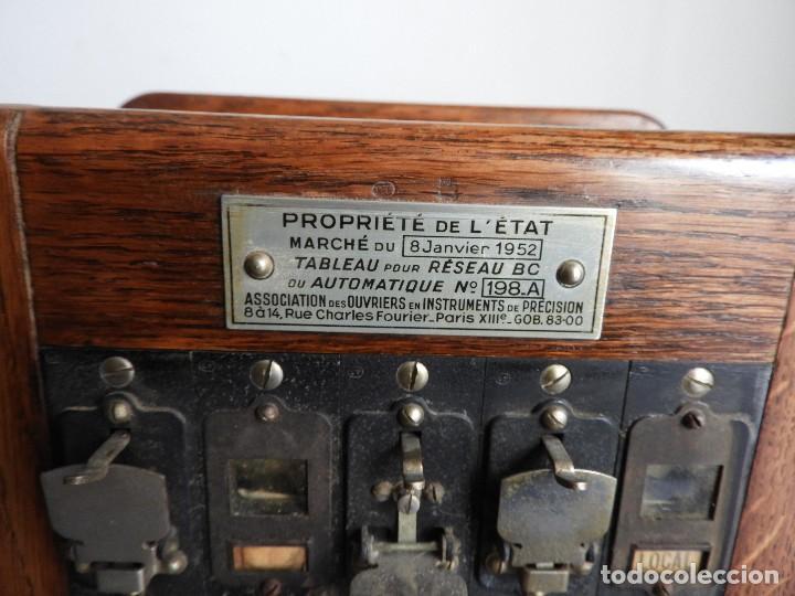 Teléfonos: PRECIOSA CENTRALITA TELÉFONO ANTIGUO COMPLETO EN ROBLE AÑOS 50 - Foto 5 - 144244886