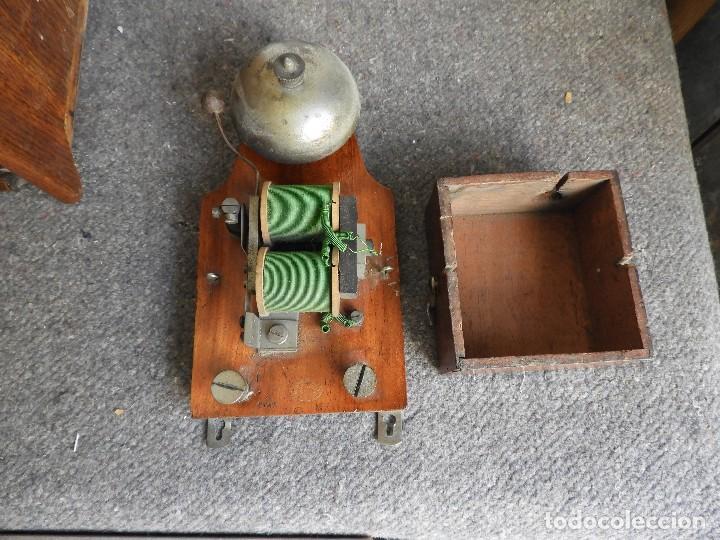 Teléfonos: PRECIOSA CENTRALITA TELÉFONO ANTIGUO COMPLETO EN ROBLE AÑOS 50 - Foto 12 - 144244886