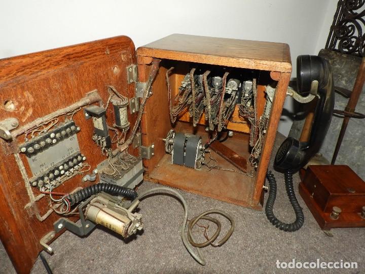 Teléfonos: PRECIOSA CENTRALITA TELÉFONO ANTIGUO COMPLETO EN ROBLE AÑOS 50 - Foto 13 - 144244886