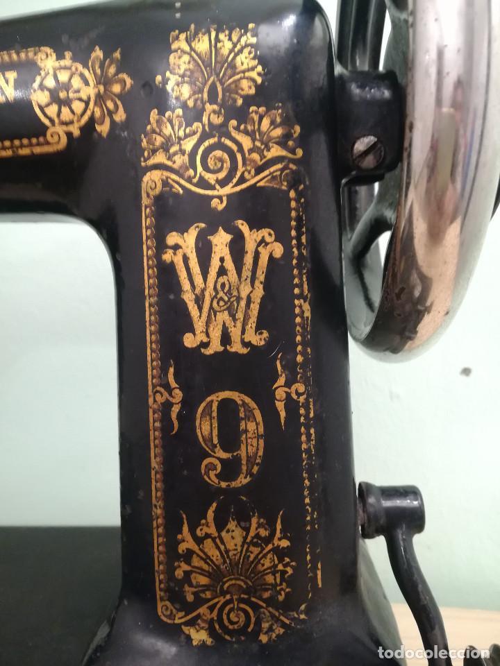 Antigüedades: Maquina de coser - Wheeler Wilson D9 - Mayo de 1895 - Foto 2 - 144279130