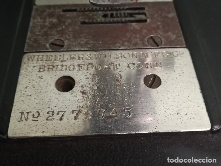 Antigüedades: Maquina de coser - Wheeler Wilson D9 - Mayo de 1895 - Foto 4 - 144279130