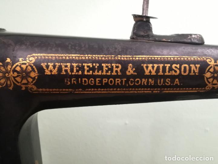 Antigüedades: Maquina de coser - Wheeler Wilson D9 - Mayo de 1895 - Foto 5 - 144279130