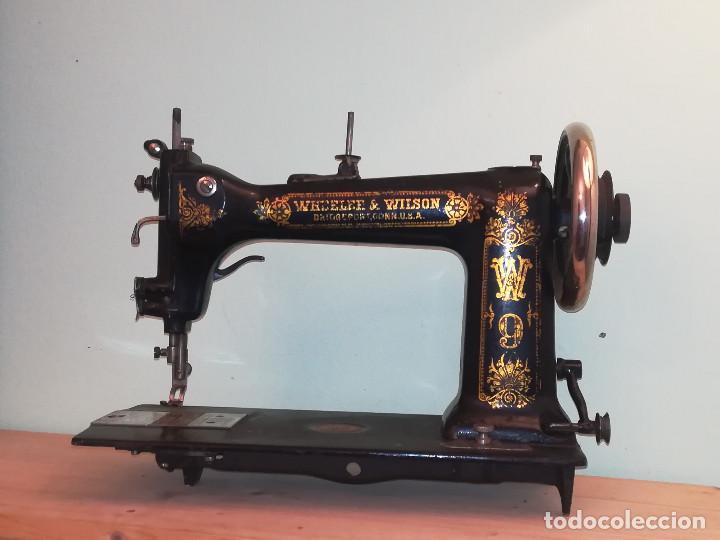 Antigüedades: Maquina de coser - Wheeler Wilson D9 - Mayo de 1895 - Foto 9 - 144279130
