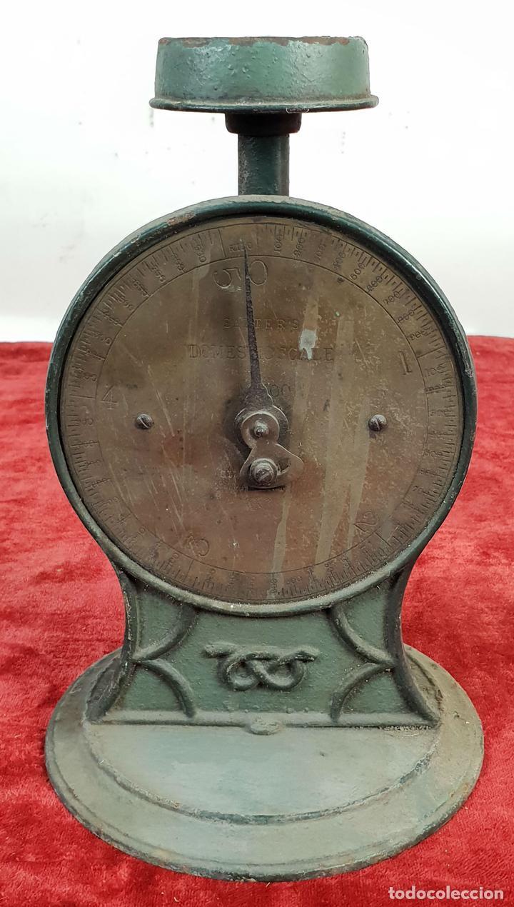 BALANZA DOMÉSTICA. SALTERS Nº 100. SILVESTER'S PATENT. INGLATERRA. CIRCA 1920. (Antigüedades - Técnicas - Medidas de Peso - Balanzas Antiguas)