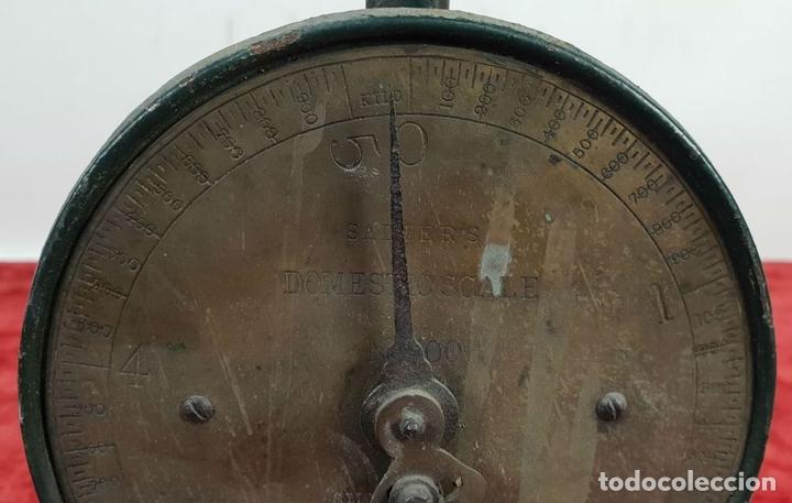 Antigüedades: BALANZA DOMÉSTICA. SALTERS Nº 100. SILVESTERS PATENT. INGLATERRA. CIRCA 1920. - Foto 2 - 144331386