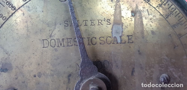 Antigüedades: BALANZA DOMÉSTICA. SALTERS Nº 100. SILVESTERS PATENT. INGLATERRA. CIRCA 1920. - Foto 9 - 144331386